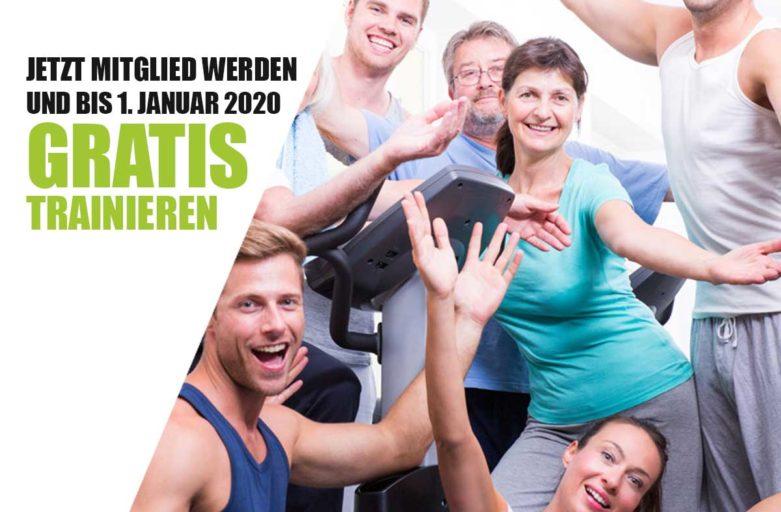 Jetzt starten und bis 1. Januar 2020 gratis trainieren!